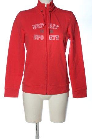 Esprit Sports Giacca fitness rosso-bianco caratteri stampati stile casual