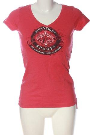 Esprit Sports T-Shirt rot Schriftzug gedruckt Casual-Look