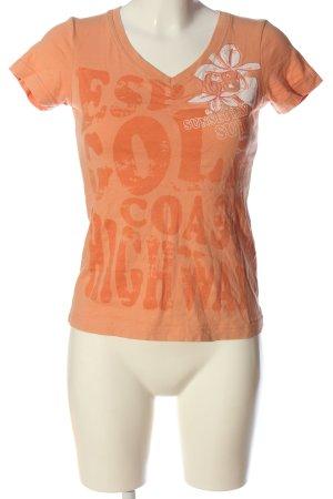 Esprit Sports T-Shirt nude-hellorange Schriftzug gedruckt Casual-Look