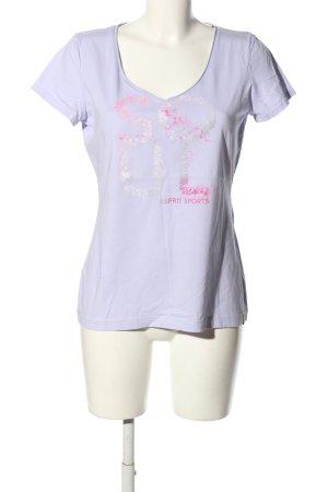 Esprit Sports V-Ausschnitt-Shirt Motivdruck Casual-Look