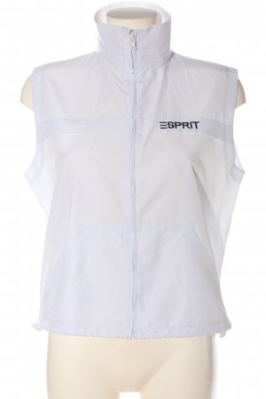 Esprit Sports Vests white printed lettering simple style
