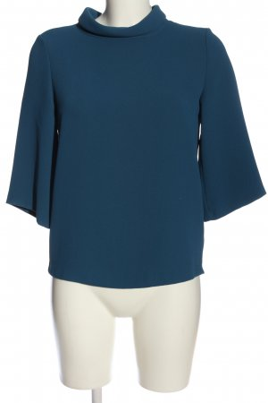 Esprit Stand-Up Collar Blouse blue casual look