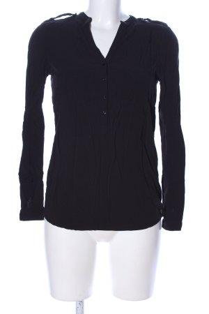 Esprit Blusa de cuello alto negro look casual