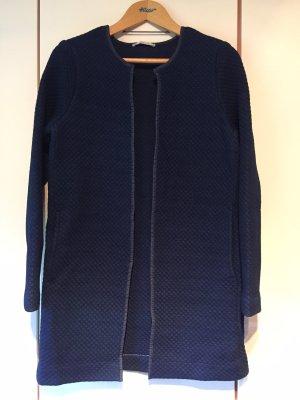 Esprit Pikowany płaszcz ciemnoniebieski