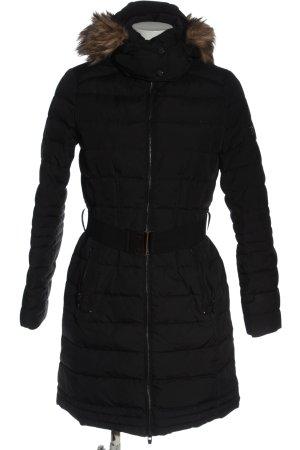 Esprit Gewatteerd jack zwart quilten patroon casual uitstraling