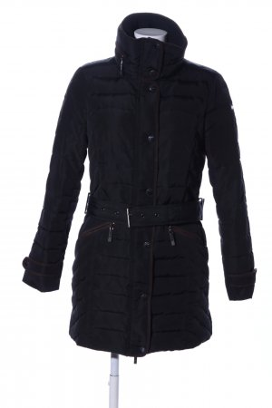 Esprit Quilted Coat black quilting pattern casual look