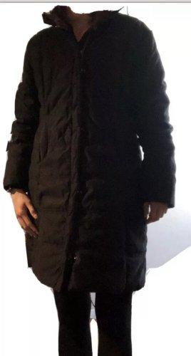 Esprit Pikowany płaszcz czarny