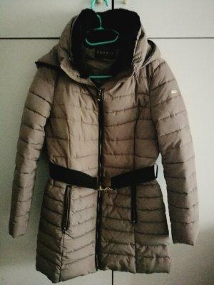 Esprit Manteau matelassé gris brun