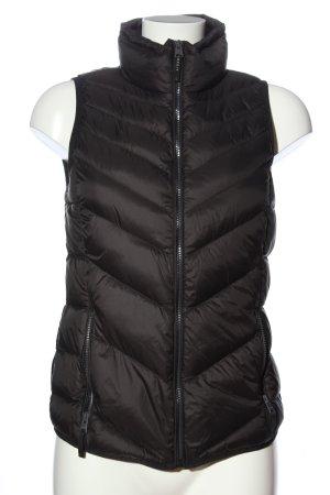 Esprit Gewatteerd vest bruin quilten patroon casual uitstraling