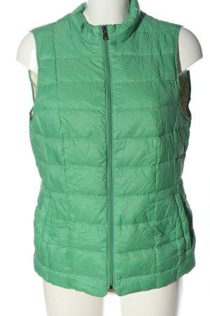 Esprit Pikowana kamizelka zielony Pikowany wzór W stylu casual