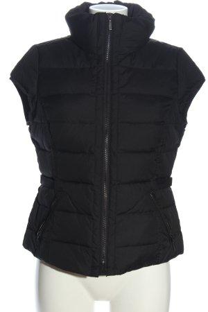 Esprit Gilet matelassé noir motif de courtepointe style décontracté
