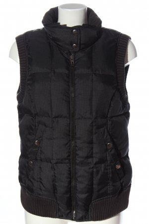 Esprit Quilted Gilet black check pattern casual look