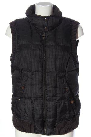 Esprit Pikowana kamizelka czarny Wzór w kratkę W stylu casual