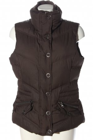 Esprit Quilted Gilet brown quilting pattern casual look