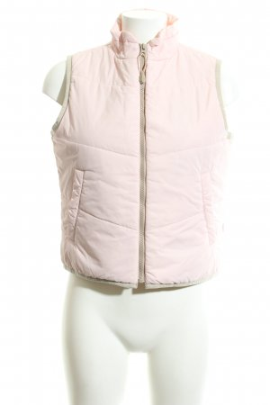 Esprit Quilted Gilet pink quilting pattern casual look