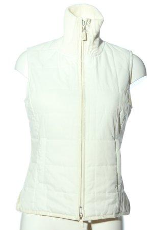 Esprit Pikowana kamizelka w kolorze białej wełny W stylu casual