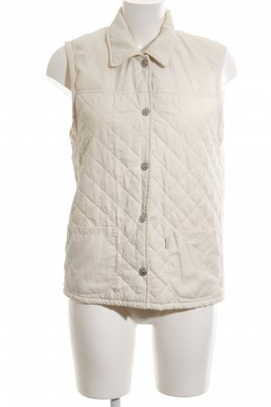 Esprit Quilted Gilet cream quilting pattern casual look