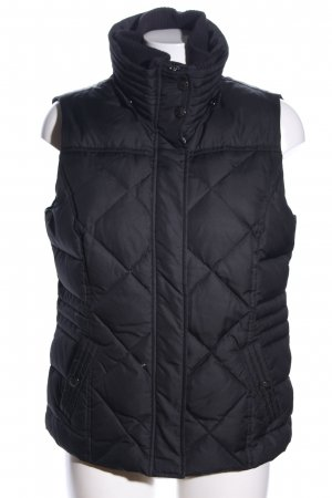 Esprit Quilted Gilet black quilting pattern casual look