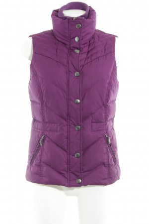 Esprit Steppweste lila Casual-Look
