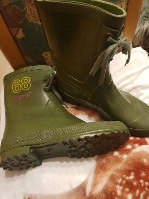 Esprit Wellington laarzen khaki-olijfgroen