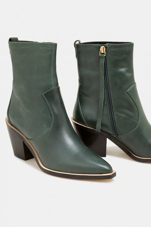 edc by Esprit Western Booties forest green leather