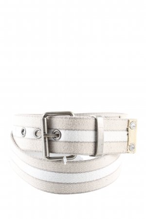 Esprit Fabric Belt cream-light grey striped pattern casual look