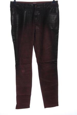 Esprit Stoffhose schwarz-rot Casual-Look