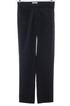 Esprit Stoffhose schwarz Streifenmuster Casual-Look