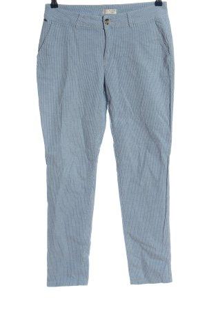 Esprit Stoffhose blau-weiß Allover-Druck Casual-Look