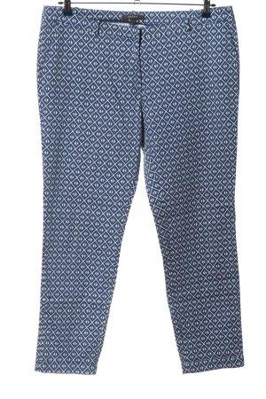 Esprit Spodnie materiałowe niebieski-biały Na całej powierzchni