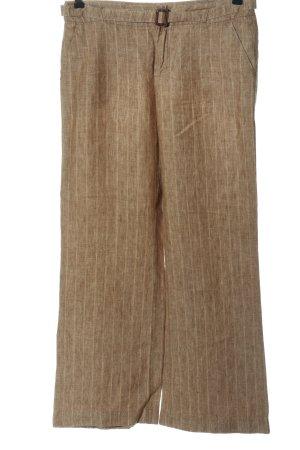 Esprit Stoffhose braun-wollweiß Streifenmuster Casual-Look