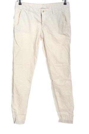 Esprit Spodnie materiałowe w kolorze białej wełny W stylu casual