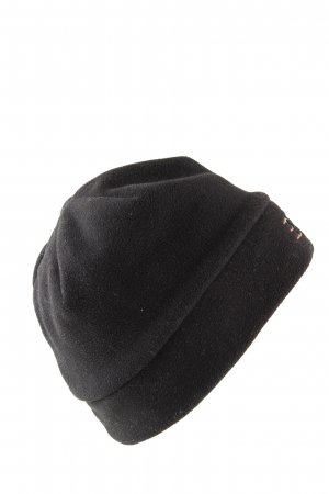 Esprit Fabric Hat black embroidered lettering casual look