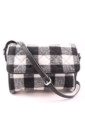 Esprit Torebka materiałowa czarny-biały Wzór w kratkę W stylu casual