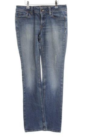 Esprit Jeansy z prostymi nogawkami niebieski W stylu casual
