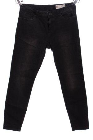 Esprit Straight-Leg Jeans schwarz-hellgrau Casual-Look