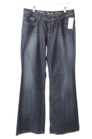 Esprit Straight-Leg Jeans blau Washed-Optik