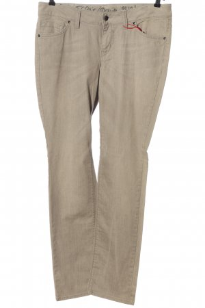Esprit Jeansy z prostymi nogawkami w kolorze białej wełny W stylu casual