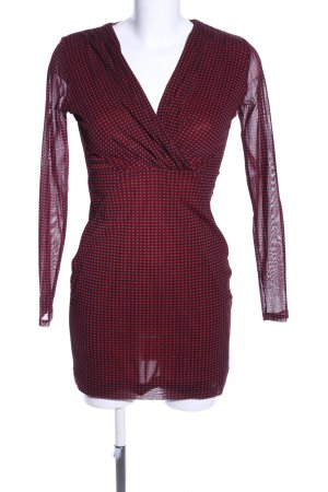 Esprit Stretchkleid rot grafisches Muster Casual-Look