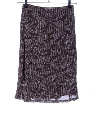 Esprit Stretchrock schwarz-weiß abstraktes Muster Casual-Look