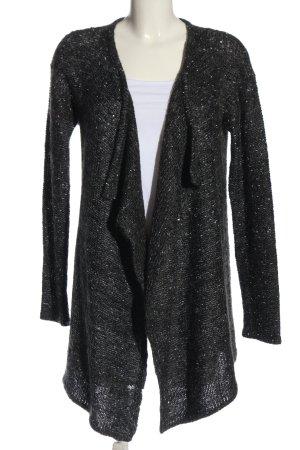 Esprit Strick Cardigan schwarz-silberfarben meliert Elegant