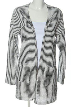 Esprit Strick Cardigan schwarz-weiß Streifenmuster Casual-Look