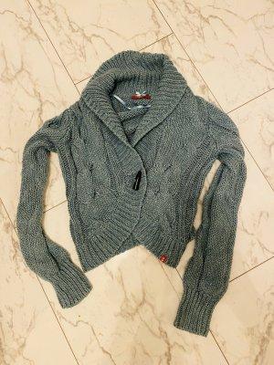 Esprit Chaqueta de lana turquesa