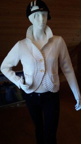 Esprit Smanicato lavorato a maglia bianco