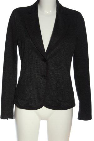 Esprit Gebreide blazer zwart-lichtgrijs volledige print elegant