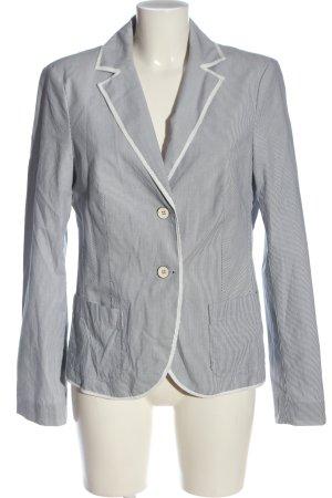 Esprit Blazer in maglia bianco-blu stampa integrale stile casual