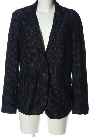 Esprit Blazer in maglia nero motivo a righe stile professionale