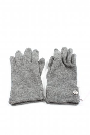 Esprit Gants en tricot gris clair moucheté style décontracté