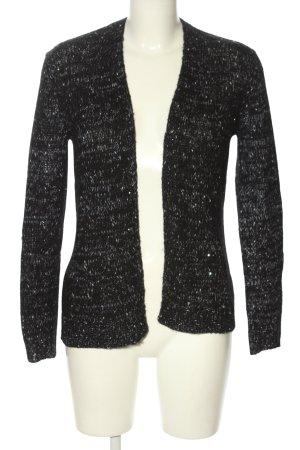 Esprit Strickjacke schwarz-weiß meliert Casual-Look