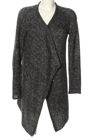 Esprit Strickjacke schwarz-weiß Webmuster Casual-Look